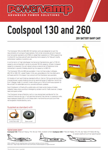 Coolspool 130 and 260 Data sheet