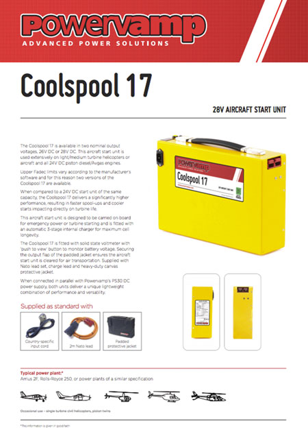 Coolspool 17 Data sheet