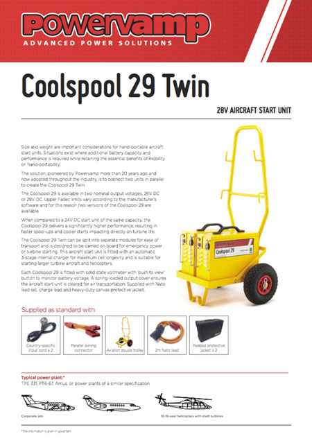 Coolspool 29 Twin Data sheet