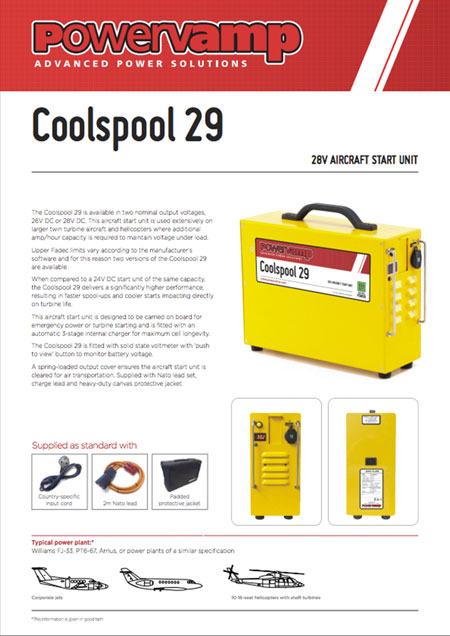 Coolspool 29 Data sheet