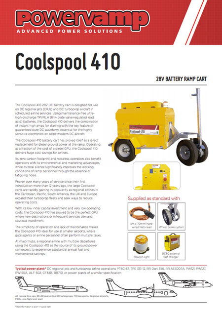 Coolspool 410 Data sheet