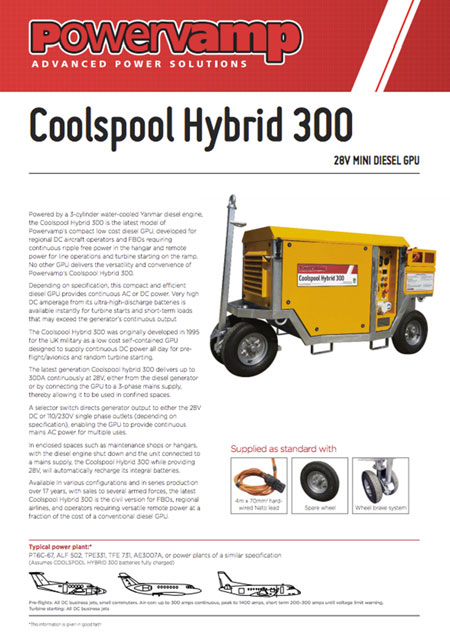 Coolspool Hybrid 300 Data sheet
