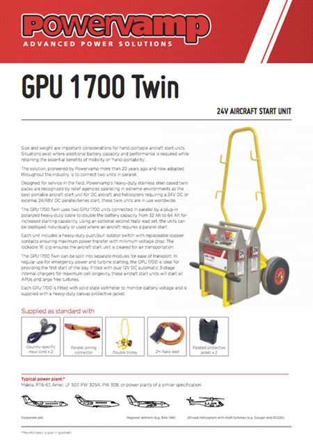 GPU 1700 Twin Data sheet