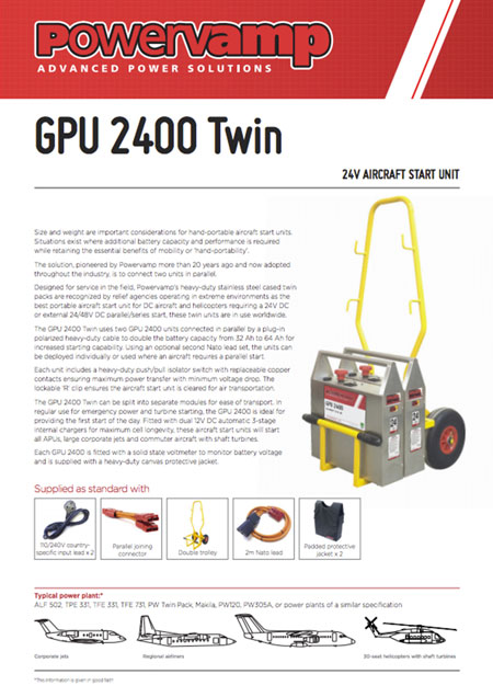 GPU 2400 Twin Data sheet