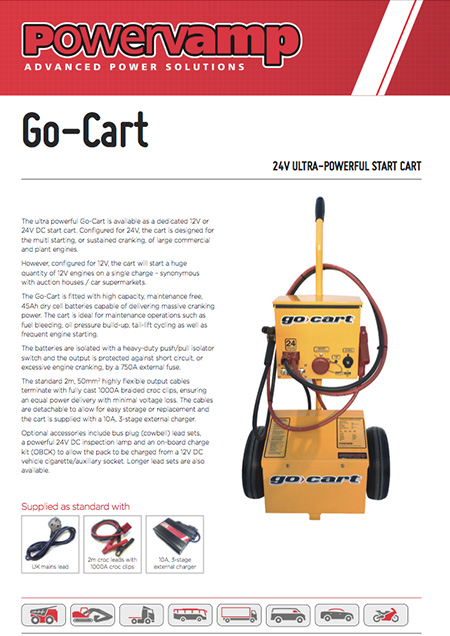 Go Cart Data sheet