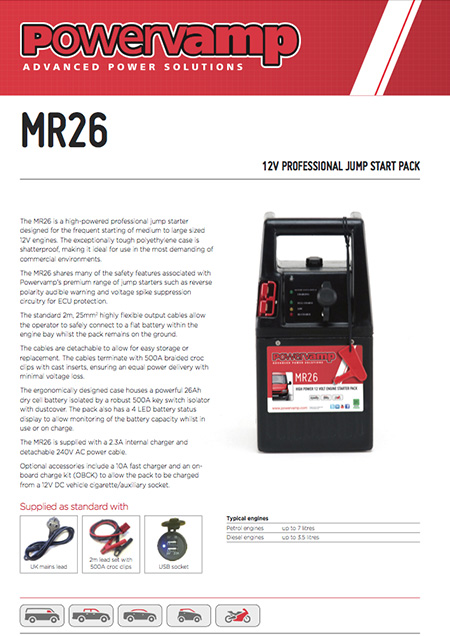 MR26 Data sheet