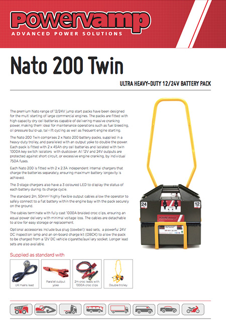 Nato 200 Twin Data sheet