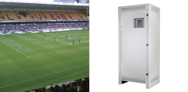 Molineux Stadium, Wolverhampton – Installation: EF33 ELI