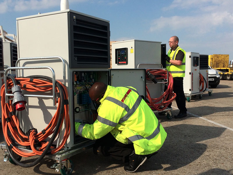 Powervamp engineers working on the PV90-3