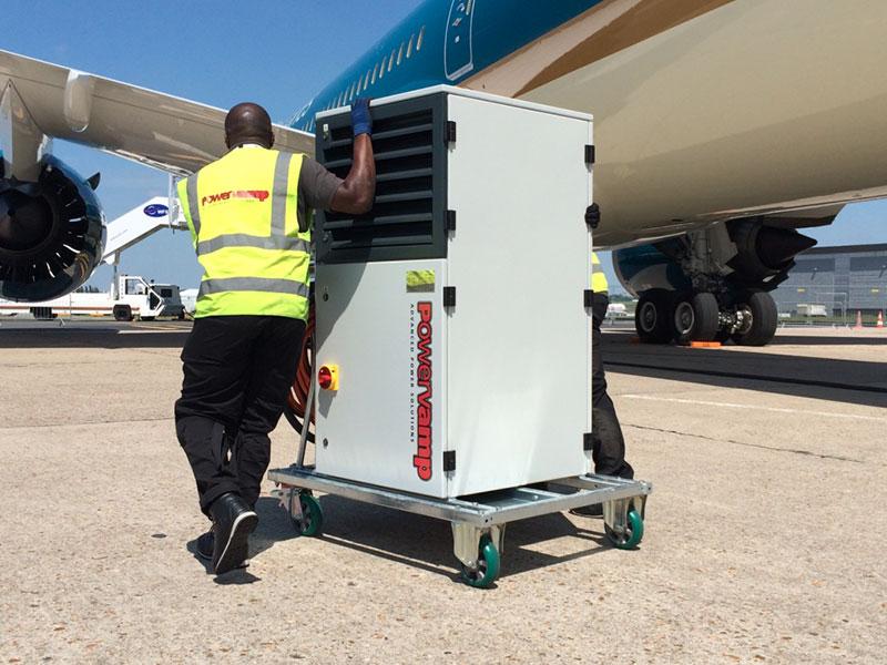 Powervamp engineer transporting equipment