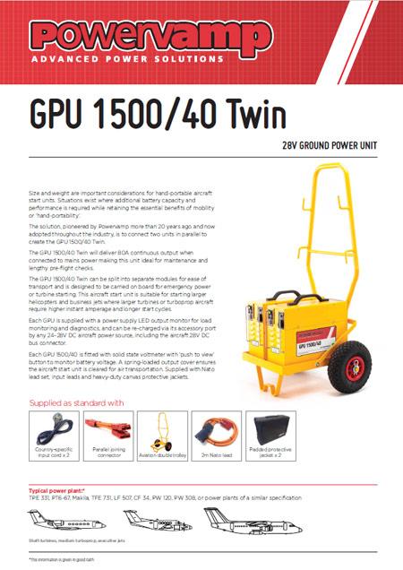 GPU 1500/40 Twin Data sheet