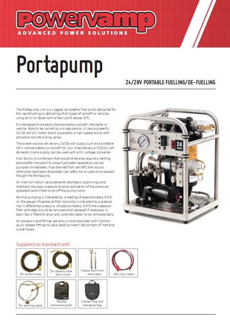 Portapump Data sheet