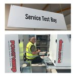 Powervamp service test bay