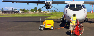 Ground Power Unit charging a plane