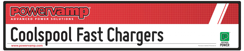 Powervamp Coolspool fast chargers labels