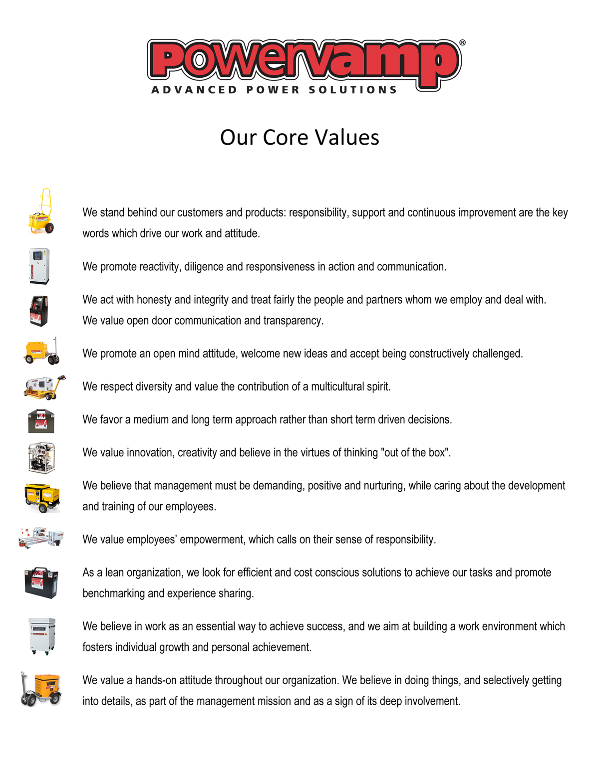 Powervamp - Core Values