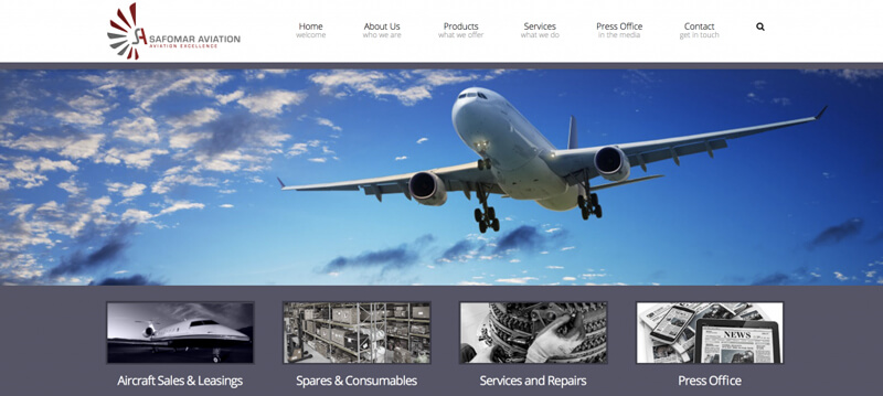 Safomar Aviation Website
