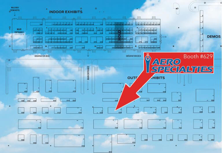 Aero Specialties Floor plan International Airport GSE Expo Booth 629