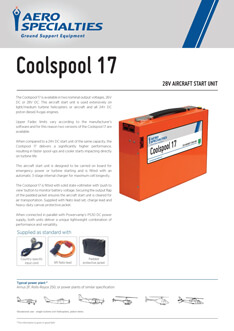 AERO Specialties - Coolspool 17 Data sheet
