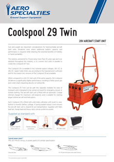 AERO Specialties - Coolspool 29 Twin Data sheet