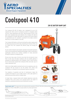 AERO Specialties - Coolspool 410 Data sheet